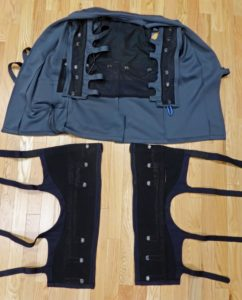 The Ilinx Garment opened to show actuators.
