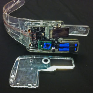 A small Rib with its cover removed, showing the way in which the electronics enclosure is integrated into this structure.